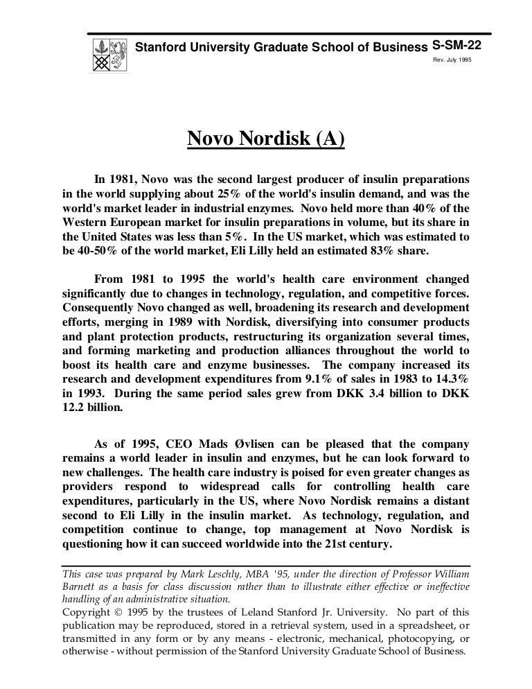 stanford university case study novo nordisk