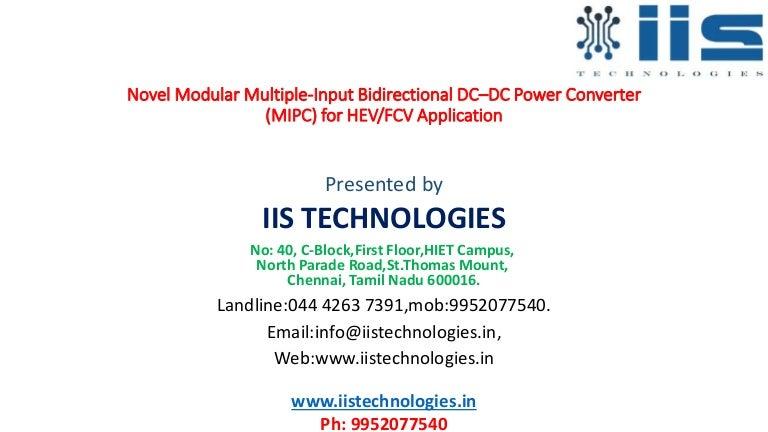 Novel modular multiple input bidirectional dc–dc power