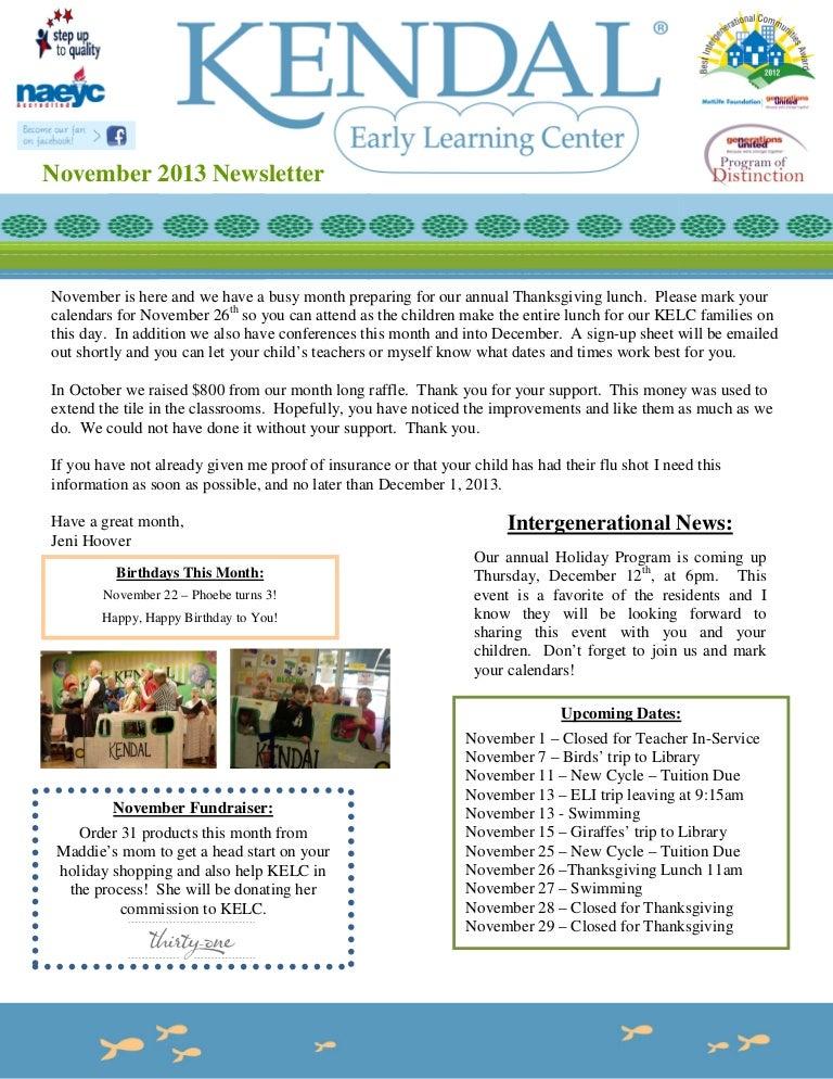 November 2013 newsletter format – News Letter Formats