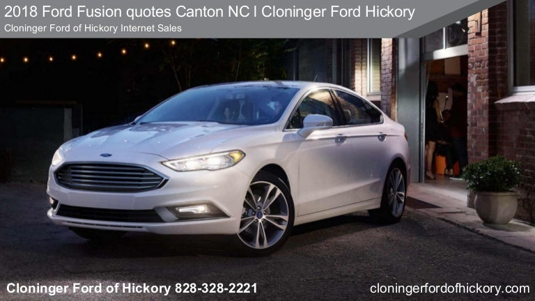 2018 Ford Fusion quotes Canton NC l Cloninger Ford Hickory