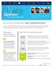 Overview of The Community Corps by Npower