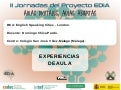 "II Jornadas EDIA. Experiencias de aula con REA de Proyecto EDIA: ""London (Enslish Speaking Cities)"""""