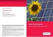 Solar Power - Sustainable energy solutions for your home