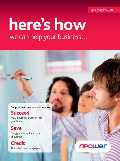 Npower q2 2013 sme billing booklet