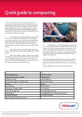 Npower quick guide to composting