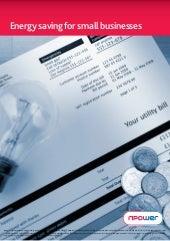 Energy Saving for Small Businesses - npower SME