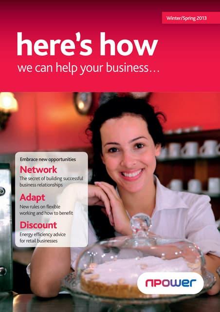 Npower SME Q1 2013 Billing Booklet