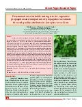 Determination of Suitable Cutting Size for Vegetative Propagation of Jatropha Curcas