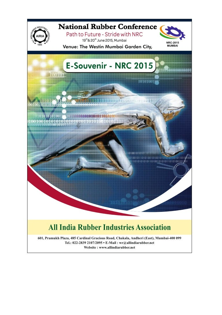 National Rubber Conference Nrc Mumbai 2015 E Souvenir Maclube Electric Fuel Pump Instruction Sheet