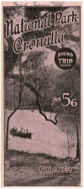 Day trips to National Park, Cronulla, pre-1938