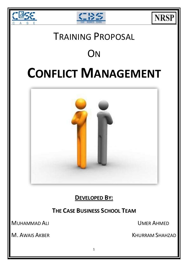 Phd research proposal conflict management