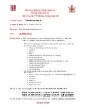 NS2 4th Quarter Writing Assignment 2012 13 without example