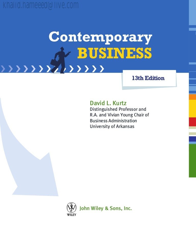Contemporary business 13th edition fandeluxe Gallery