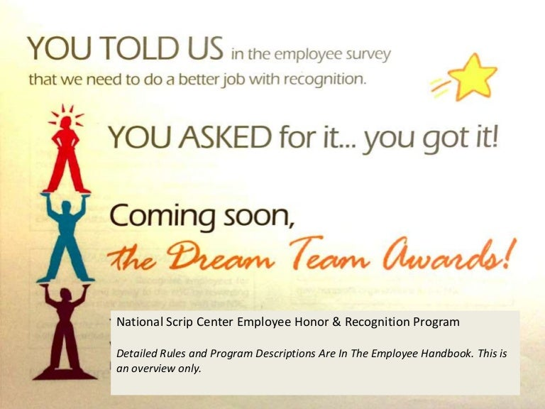 NSC Employee Reward & Recognition Programs Overview