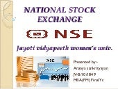 National stock exchange(NSE)