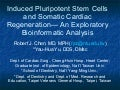 Induced Pluripotent Stem Cells and Somatic Cardiac Regeneration— An Exploratory Bioinformatic Analysis