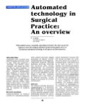 Automated Technology in Surgical Practice - Sanjoy Sanyal