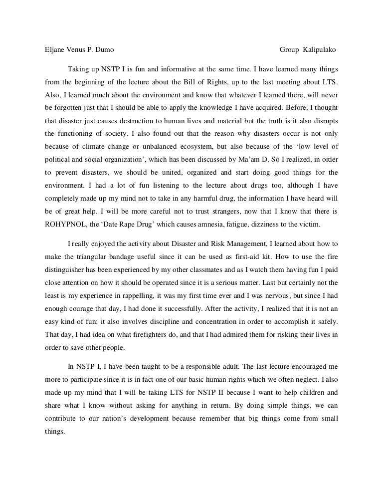 cwts experience essay