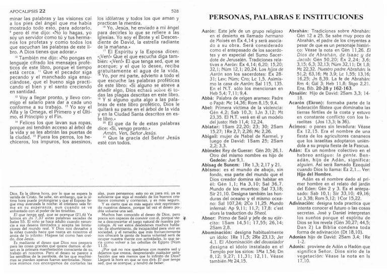 Biblia Catolica Nuevo Testamento Personas Palabras E Instituciones
