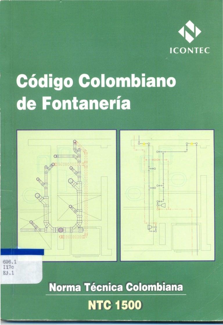 NTC 1500 código colombiano de fontanería