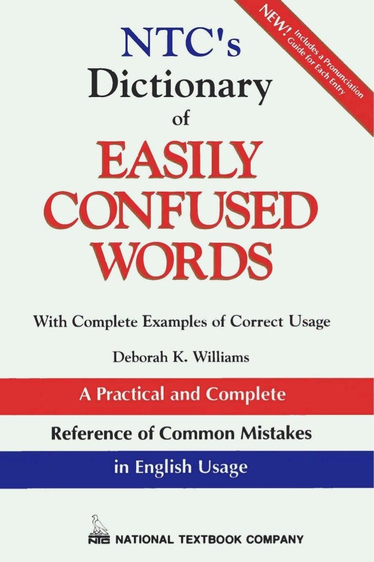ntc u0027s dictionary of easily confused words sari k