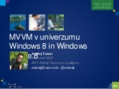 MVVM in the Windows 8 and Windows Phone universe / MVVM v univerzumu Windows 8 in Windows Phone