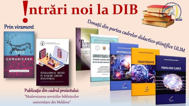 Donații din partea cadrelor didactico-științifice ULIM