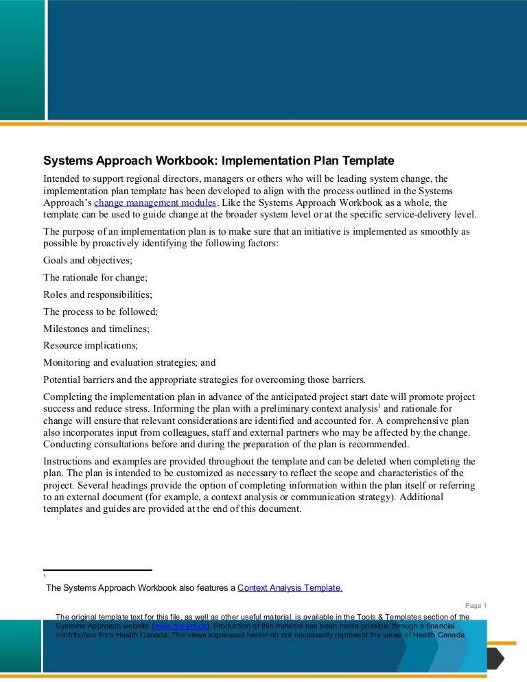 Nts SystemsApproachImplementationPlanEn