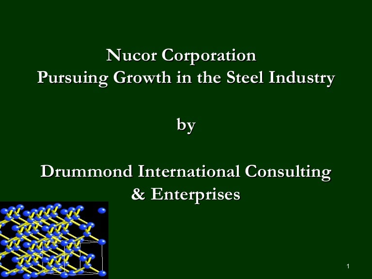 nucor case study on approach to Nucor (25 points) 1 list and elaborate some strategic issues facing nucor nucor has been facing many industry challenges including the overall sylvia hoffman grand canyon university case study: fetal abnormality the case study presented is a young immigrant couple striving to better.