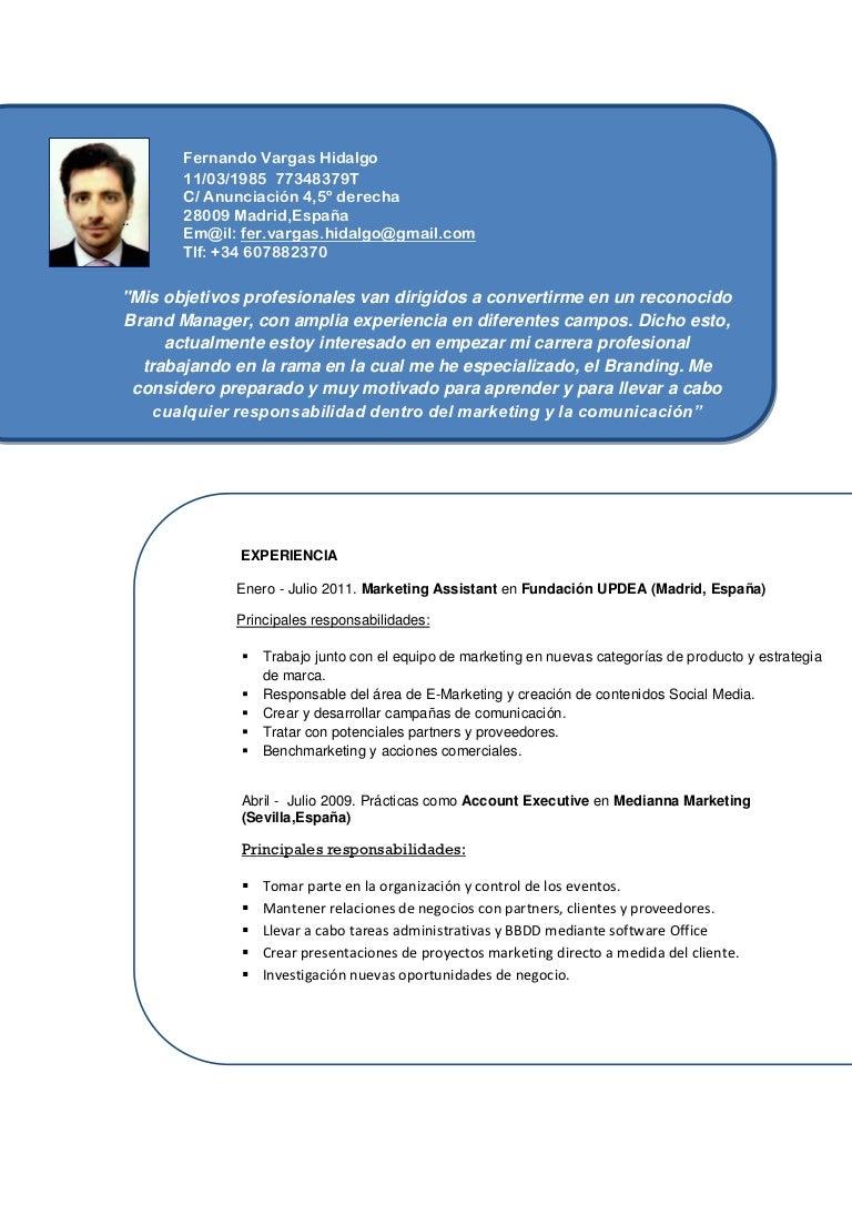 Nuevo curriculum vitae 2012