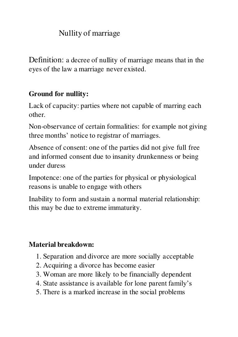 decree of nullity
