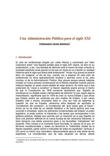 La Administración Pública como Organización. Tendencias s.XXI