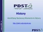 Numeracy moments in history