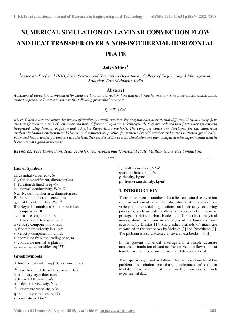 Numerical simulation on laminar convection flow and heat transfer ove buycottarizona Image collections