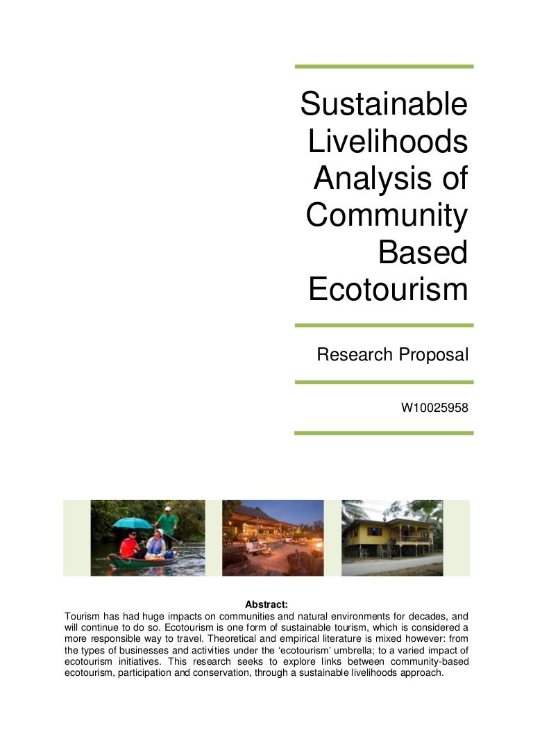 sustainable livelihoods analysis of community based ecotourism resea