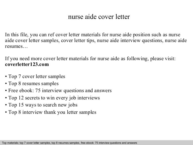 Best Nursing Aide And Assistant Cover Letter Examples LiveCareer