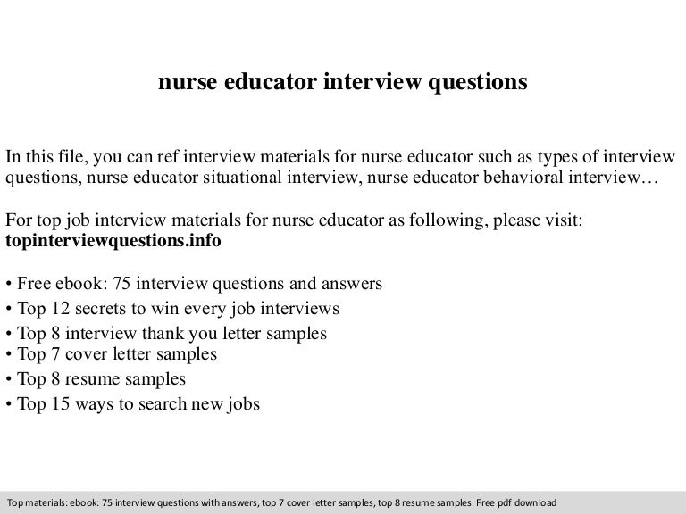 Sample Phone Interview Questions Nurseeducatorinterviewquestions 140905042150 Phpapp02 Thumbnail 4 Jpg Cb 1409890946