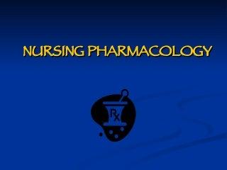 Nursing Pharmacology Prelim