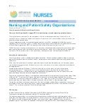 PSO's Improve Nursing Care Delivery and Performance