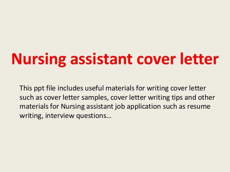 nursing assistant cover letters