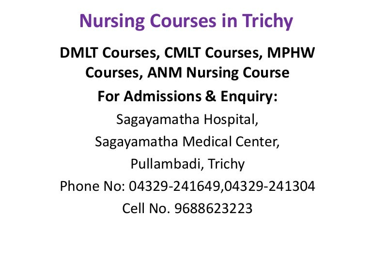 Nursing Courses in Trichy