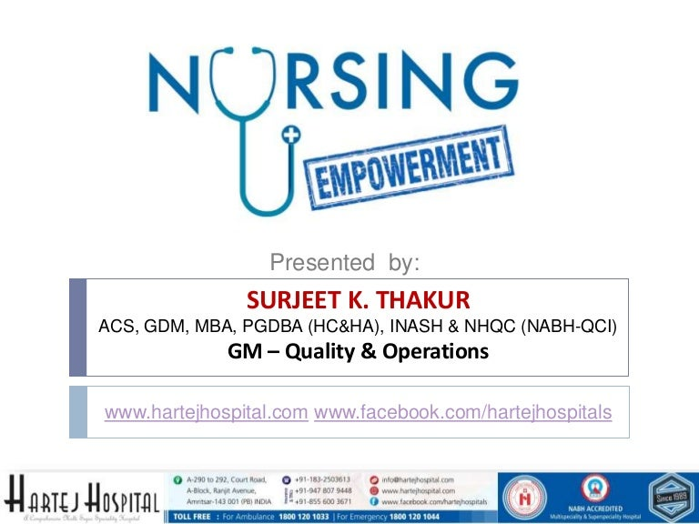 The Empowerment Of The Nursing Profession