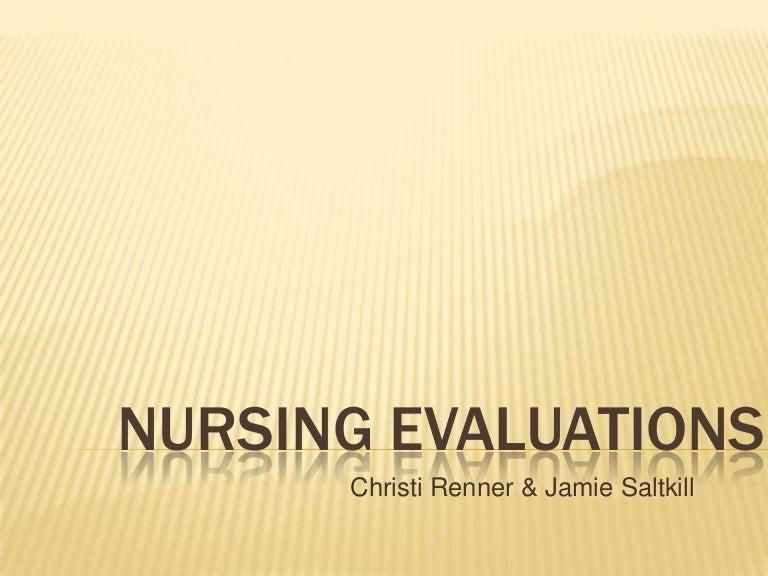 nursing student self evaluation essay