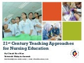 21st Century Teaching Approaches for Nursing Education