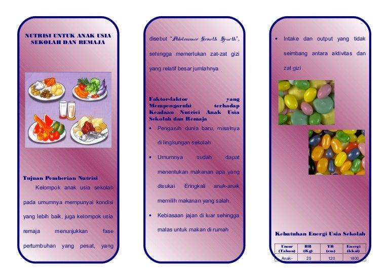 Nutrisi Anak Sekolah Remaja