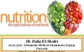 Nutrition and food constituents