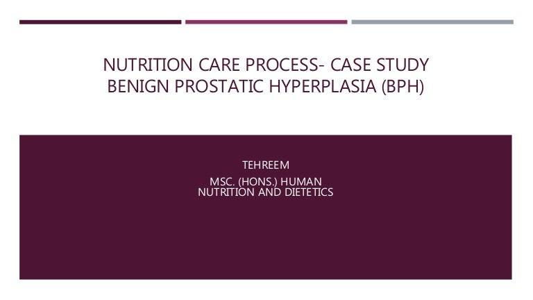 benign prostate hyperplasia and nutrition)