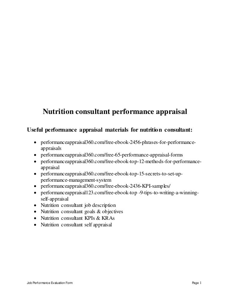 Nutritionconsultantperformanceappraisal 150627071224 Lva1 App6891 Thumbnail 4?cbu003d1435389188