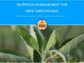 Nutrition Management for Mite Infestations