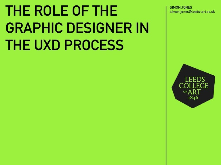 NUX Leeds 26032015 The Role of the Graphic Designer in UXD Si – Responsibilities of a Graphic Designer